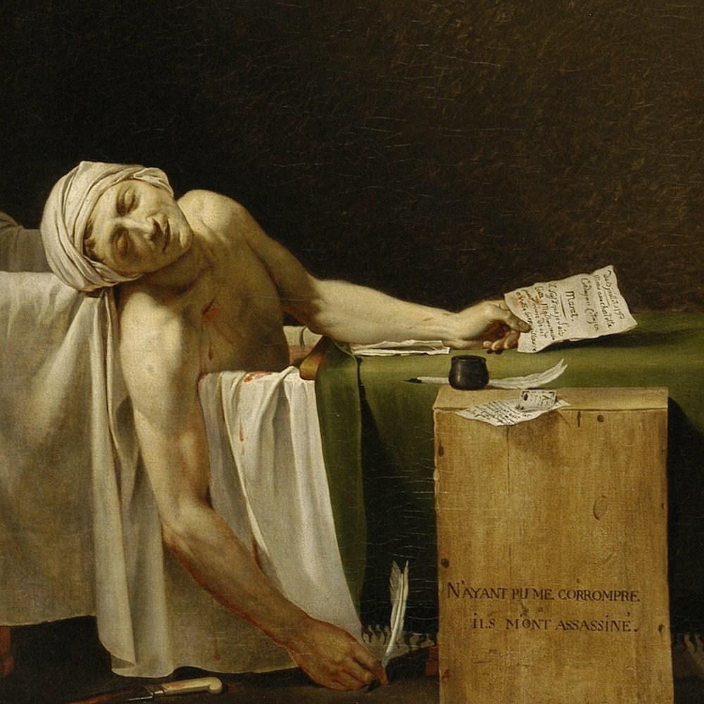 Figura 11 - Jacques-Louis David. Marat assassinado (1793). Musées Royaux des Beaux-Arts.