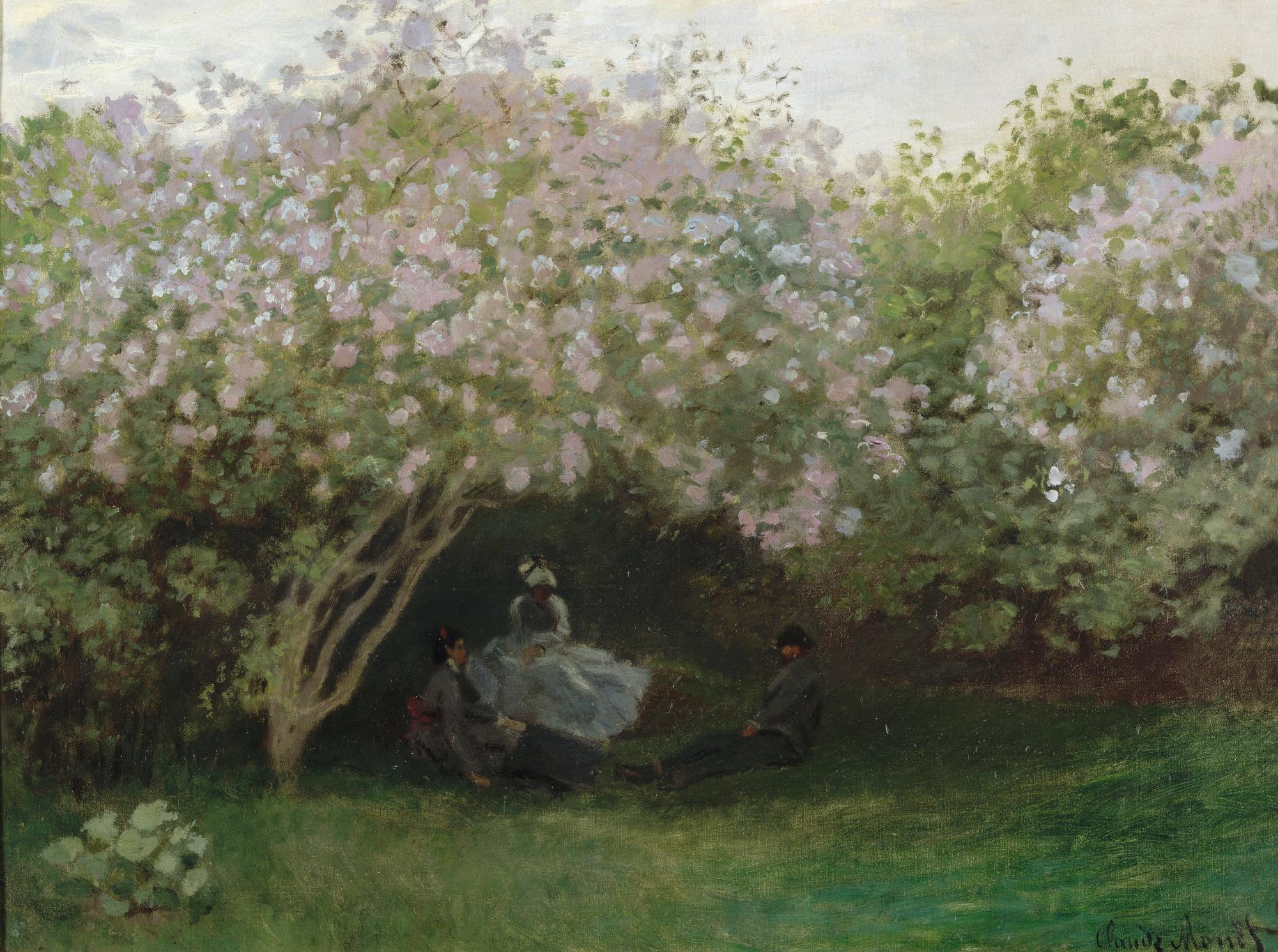 Figura 2. Claude Monet, Le repos sous les lilas