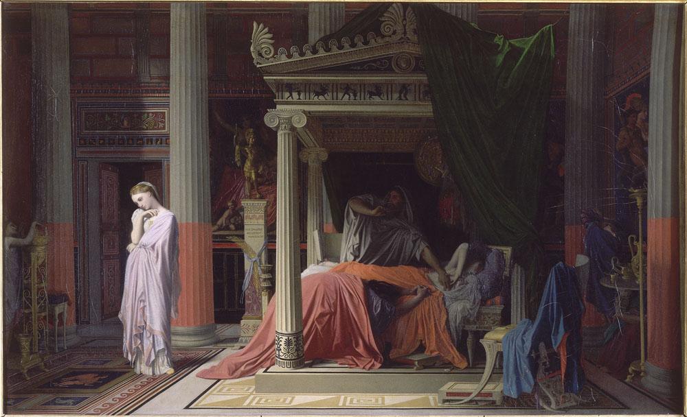 Figura 20 - J.-D.-A. Ingres. Antioco e Estratonica (1839). Chantilly, Musée Condé.