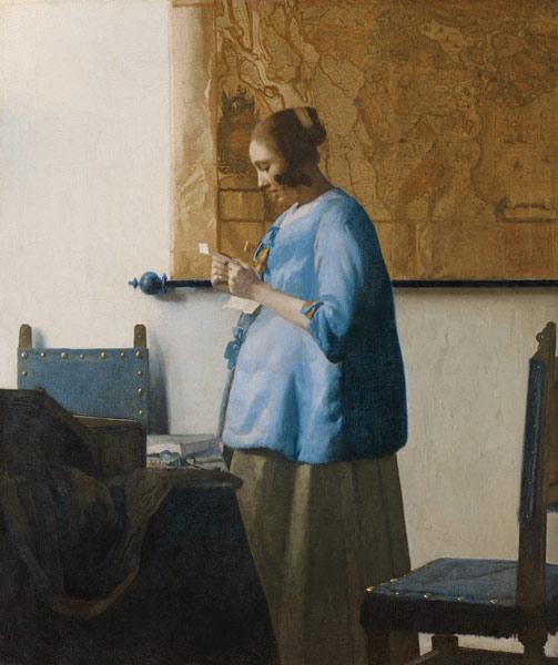Figura 17. Johannes Vermeer, Mulher lendo uma carta