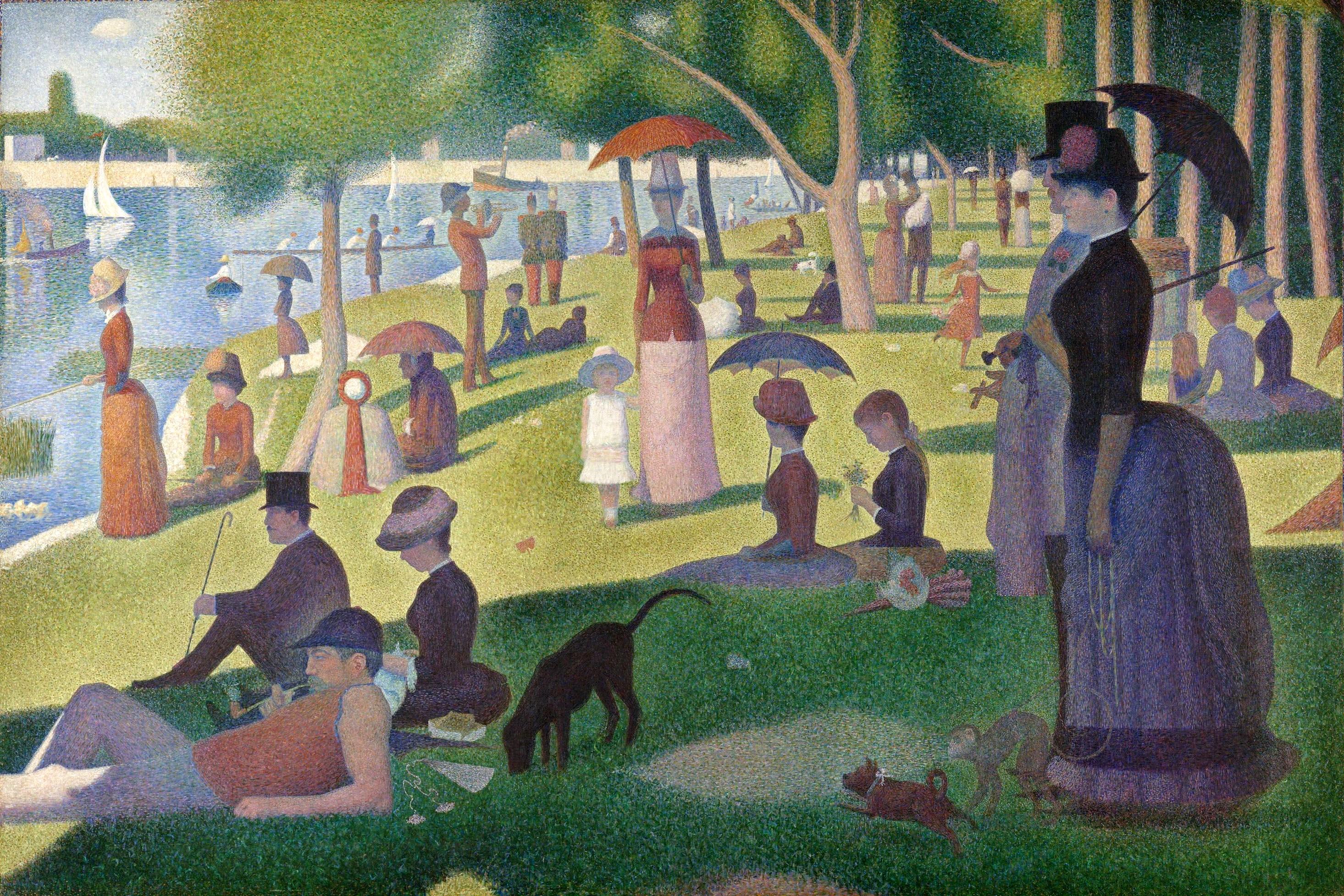 Figura 2. Georges Seurat, Un Dimanche Aprés-Midi à l'île de la Grande Jatte