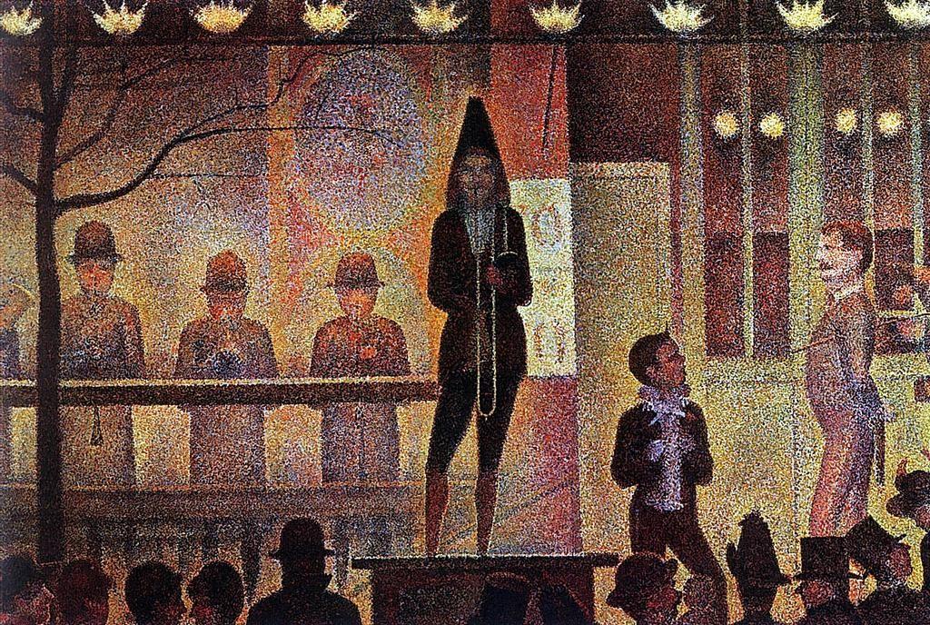 Figura 4. Georges Seurat, La Parade de Cirque