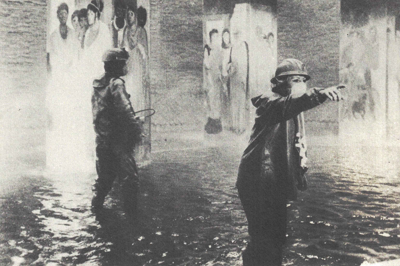 Figura 2. Roma de Fellini: casa romana encontrada durante escavações do metrô
