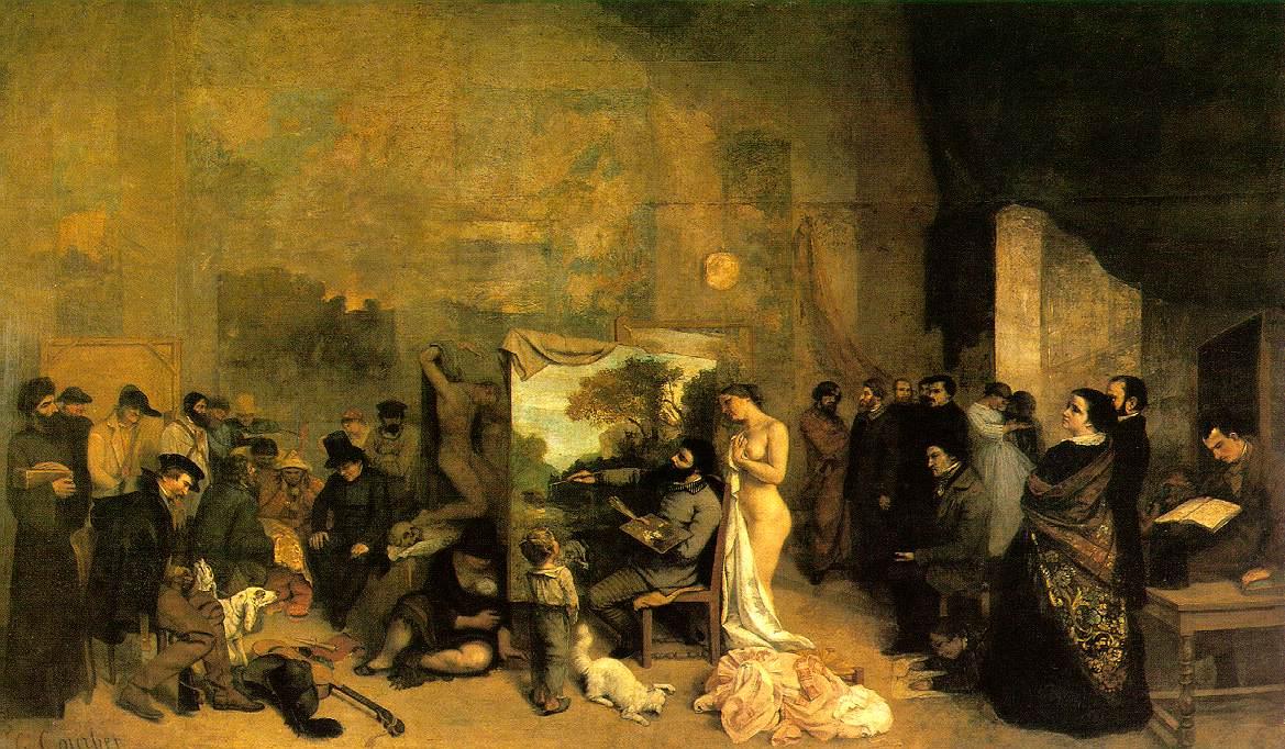 Figura 1 - Gustave Courbet, O ateliê do pintor.