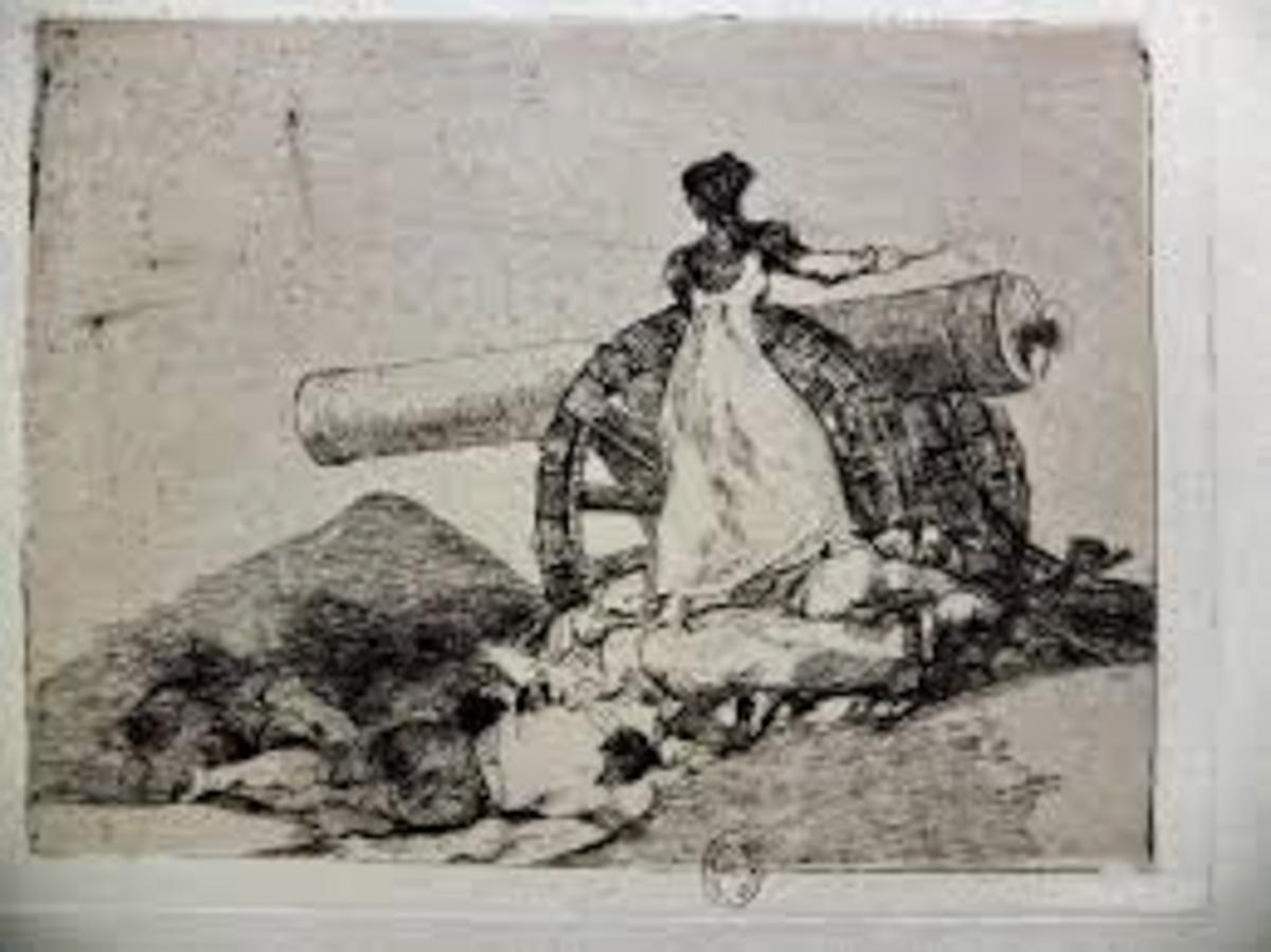 Figure 17. Goya, Desastres de guerra: Que valor!