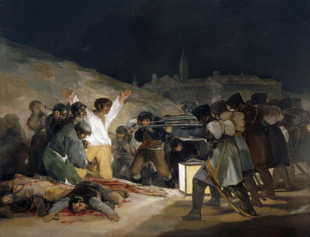 Figura 21 - Goya, Os fuzilamentos de 3 de maio de 1808.
