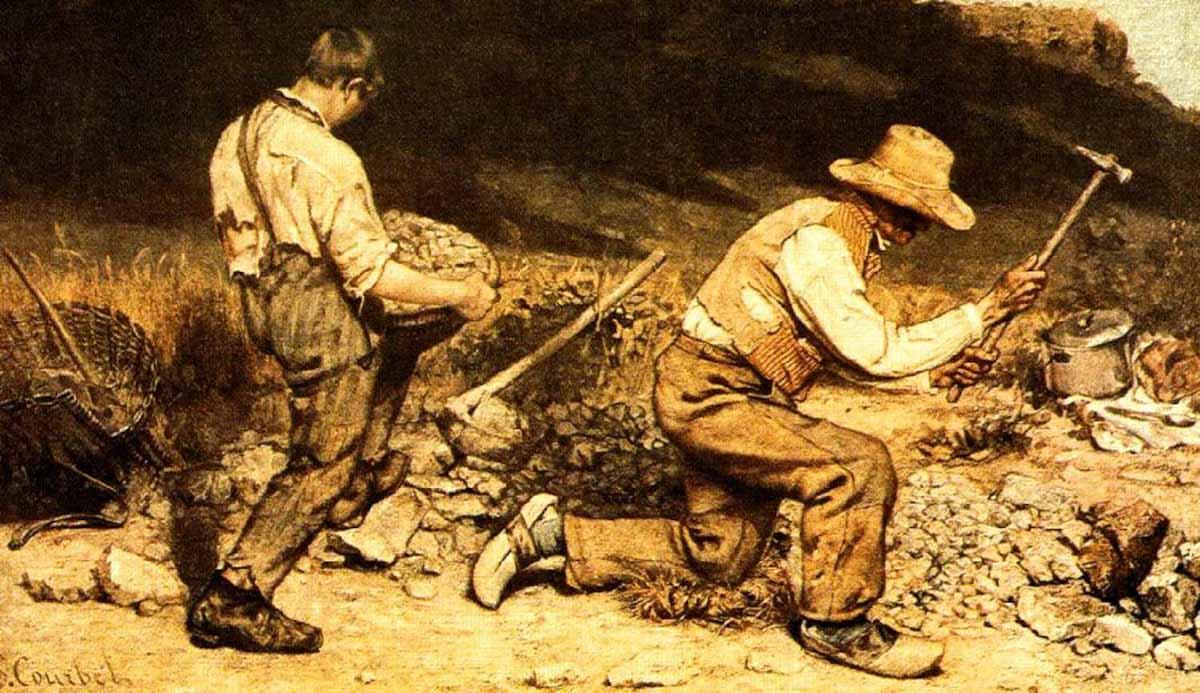 Figura 3 - Os cortadores de pedra