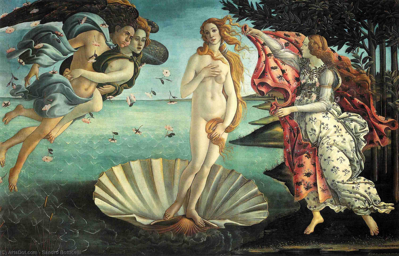 Figure 3. O nascimento de Vênus, Botticelli (1486). Florença, Uffizi.
