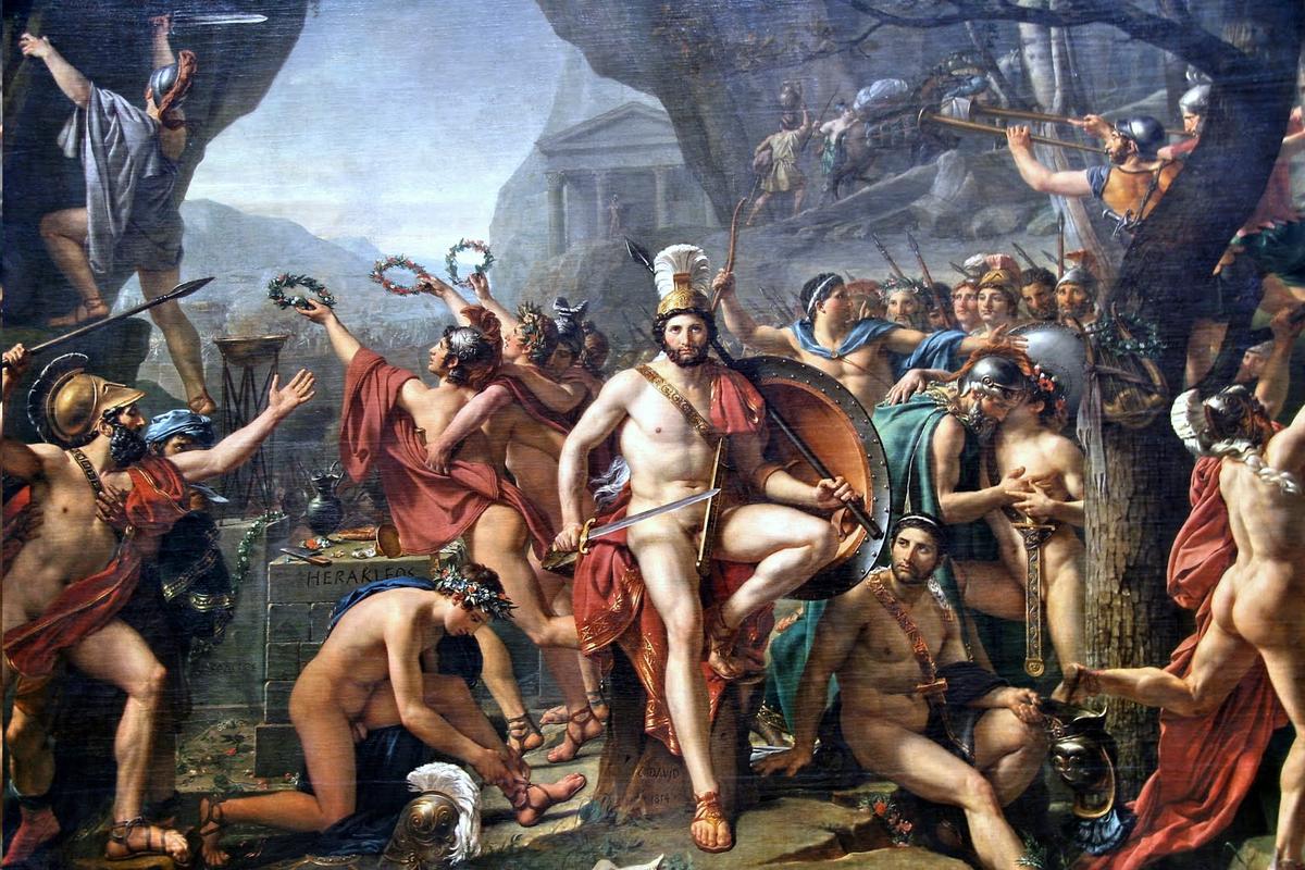 Figura 4 - Jacques-Louis David, Leônidas nas Termópilas
