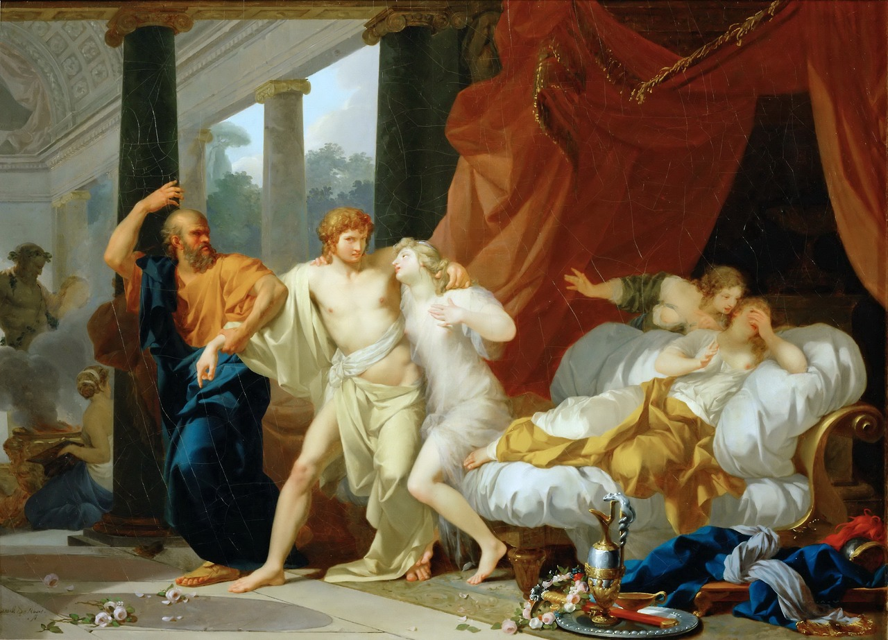 Figura 24 - Jean-Baptiste Régnault, Sócrates arrancando Alcibíades do seio da volúpia