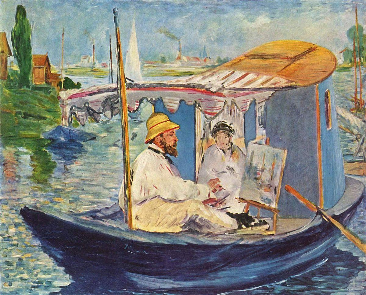 Figura 9 - Édouard Manet, Claude Monet em seu ateliê.