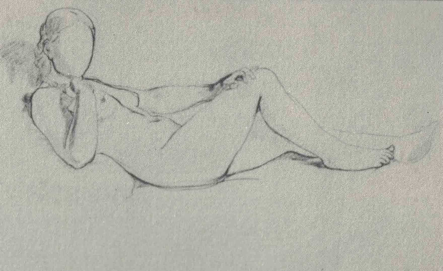 Figura 17 - Édouard Manet, estudo para Olímpia.