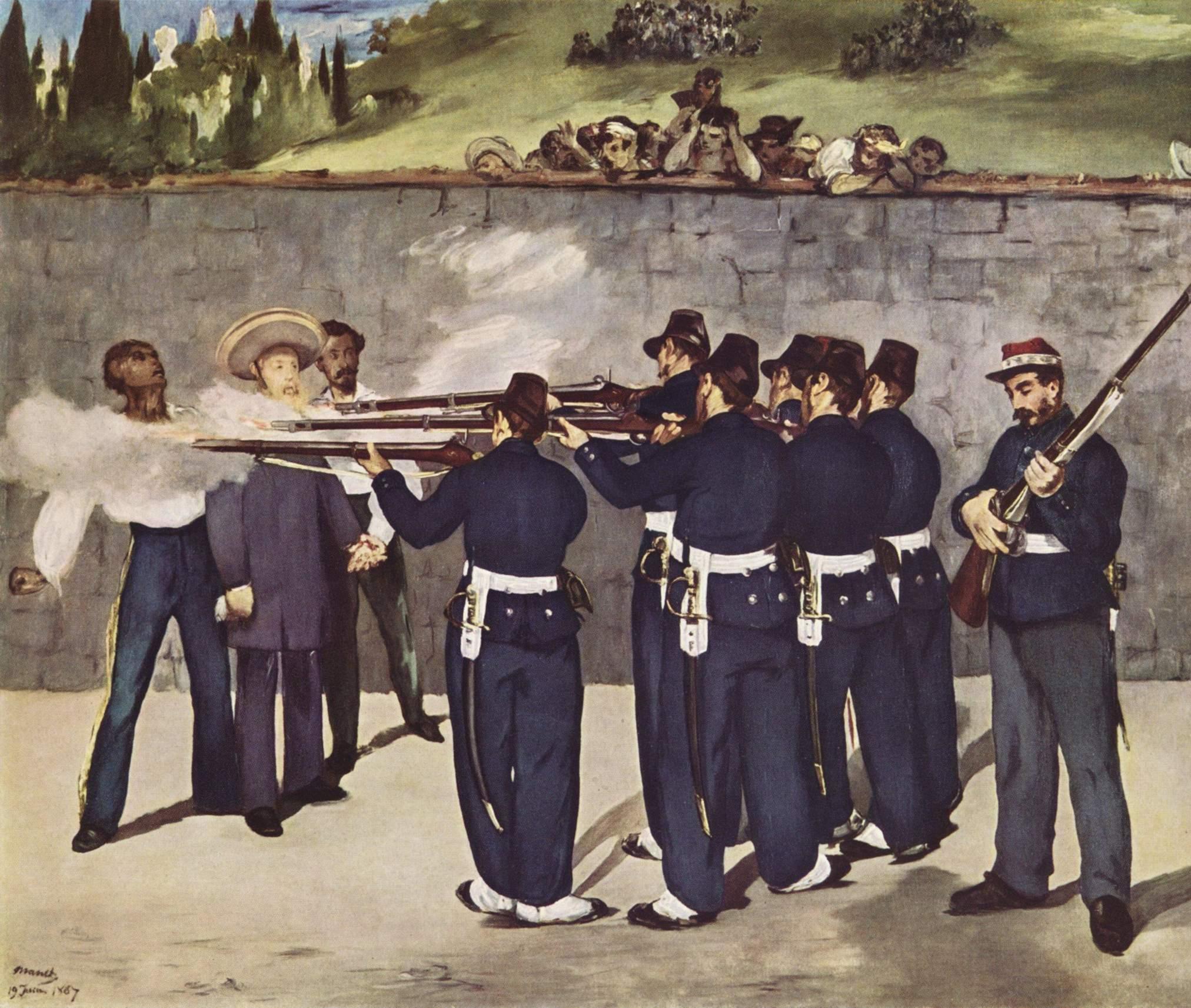 Figura 20 - Édouard Manet, A execução de Maximiliano.
