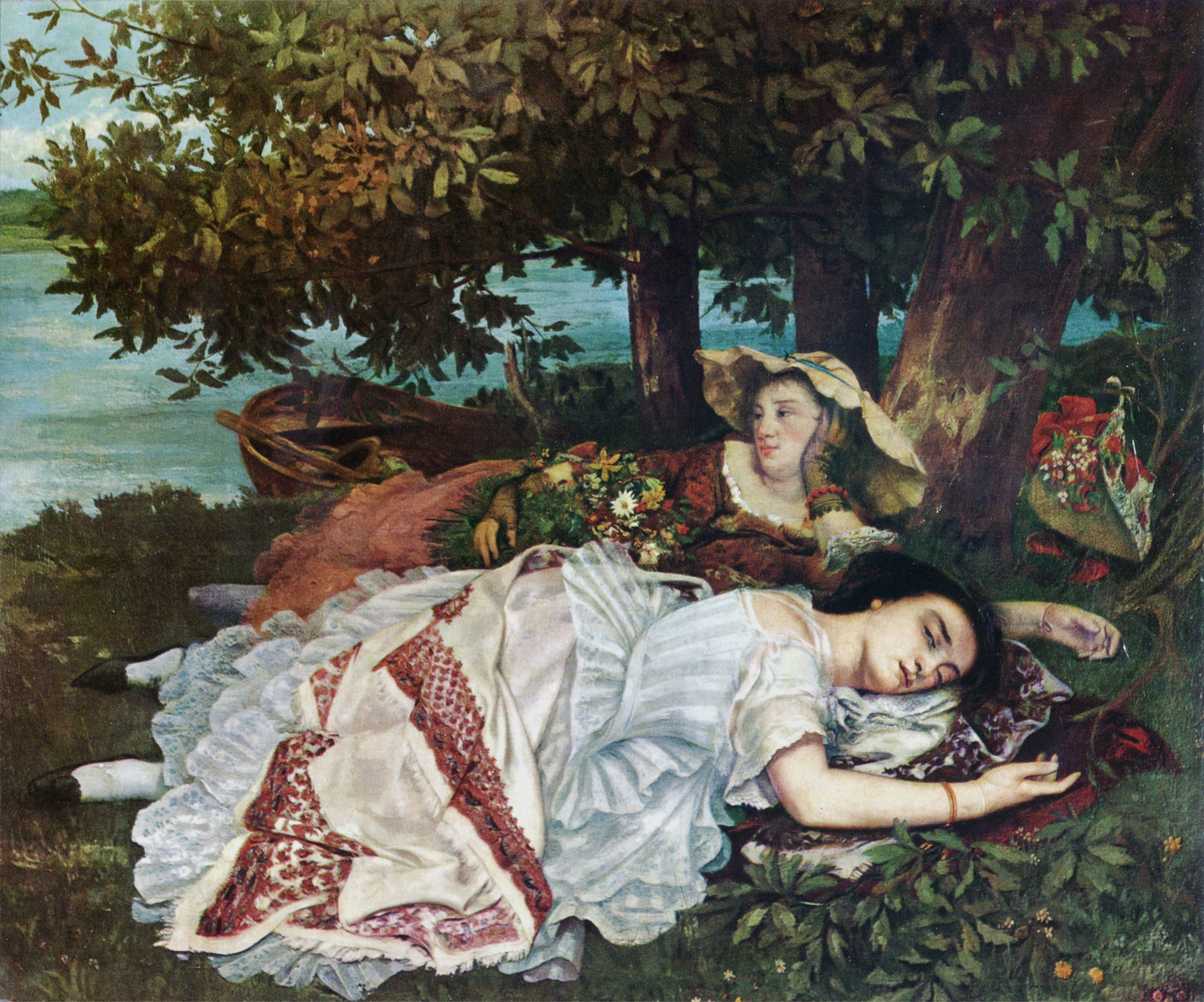Figura 24 - Gustave Courbet, As senhoritas da beira do Sena (verão).