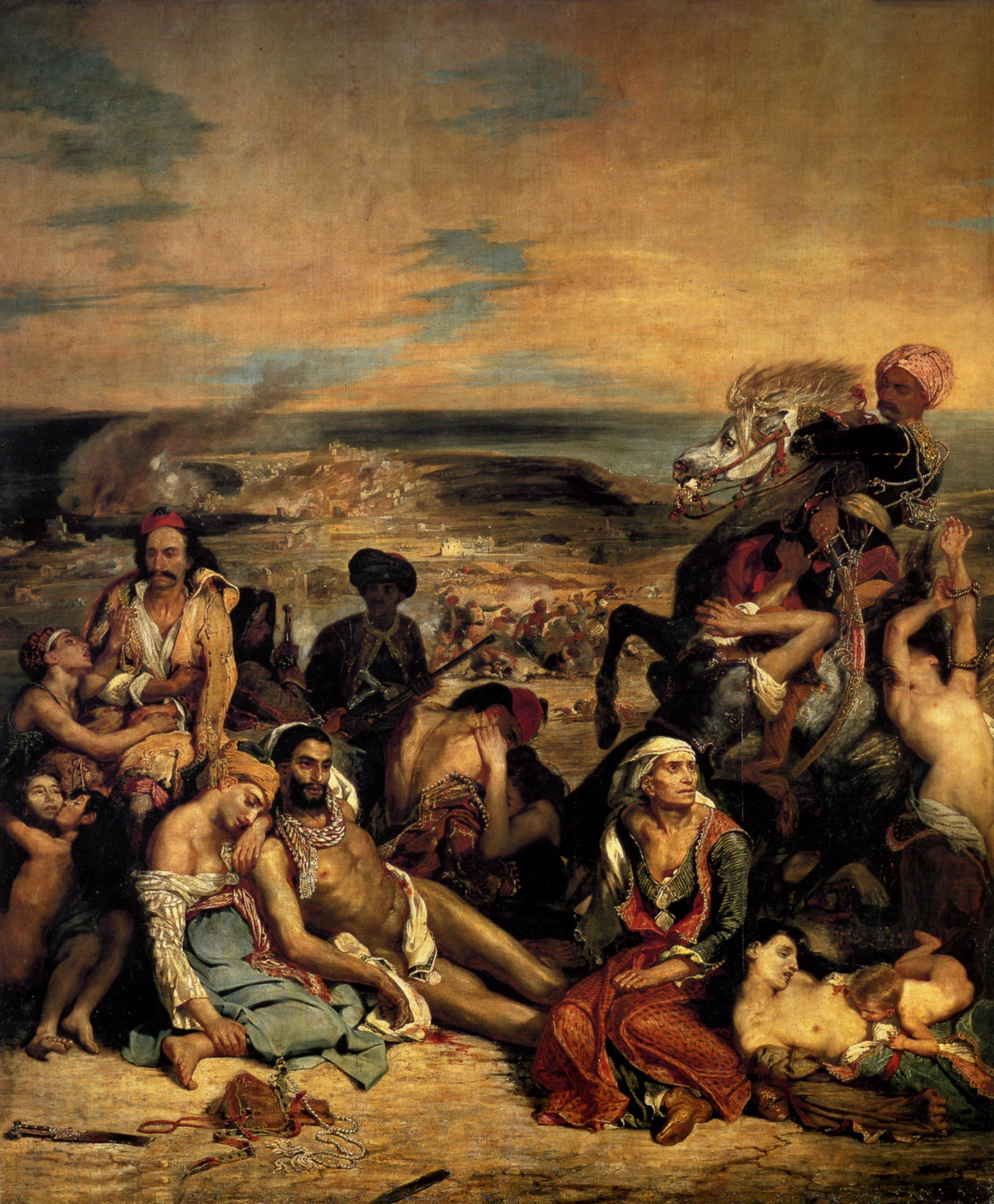 Figure 3. Massacres de Quio (Salão de 1824). Paris, Louvre