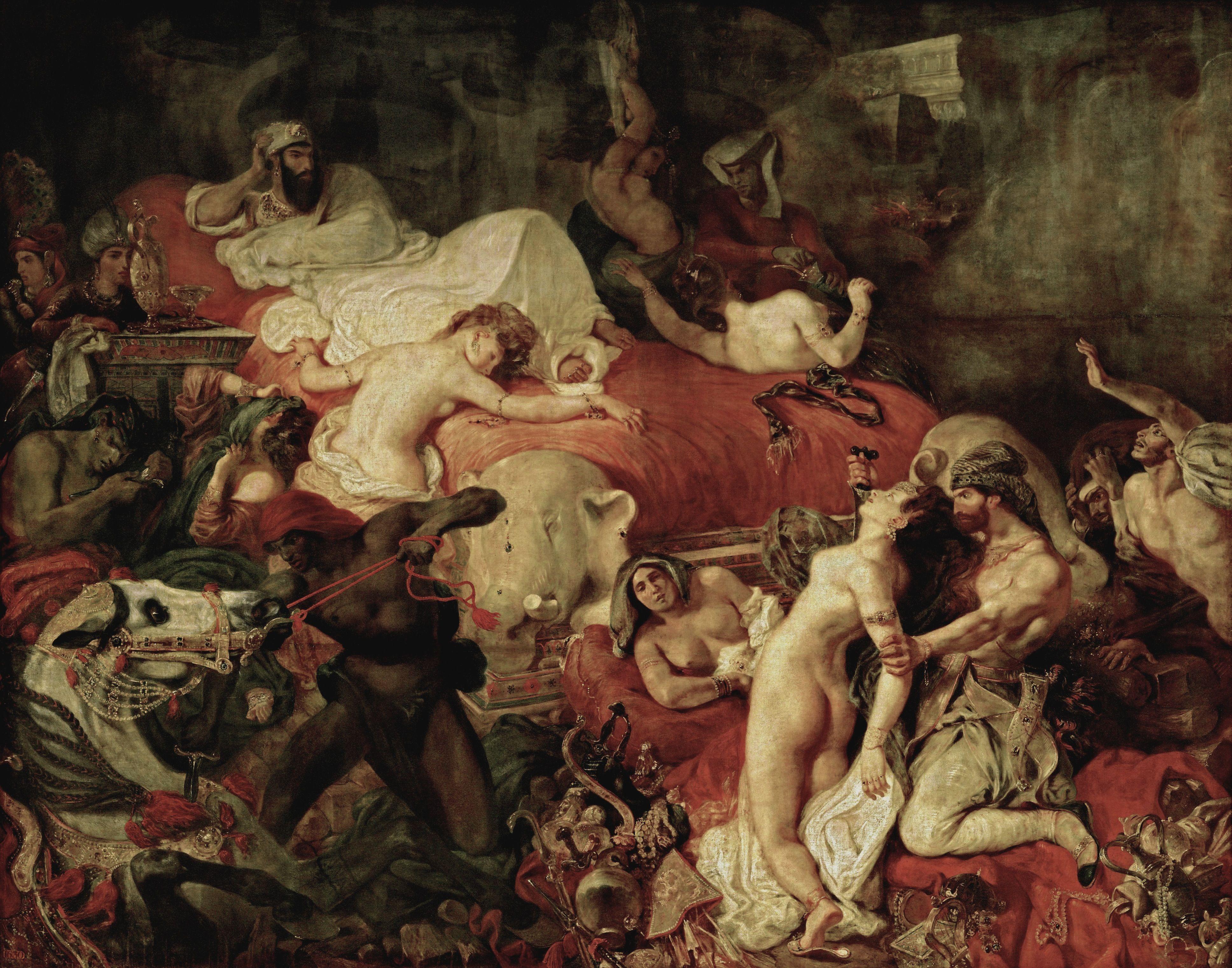 Figure 4. A morte de Sardanapalo (Salão de 1827). Paris, Louvre.