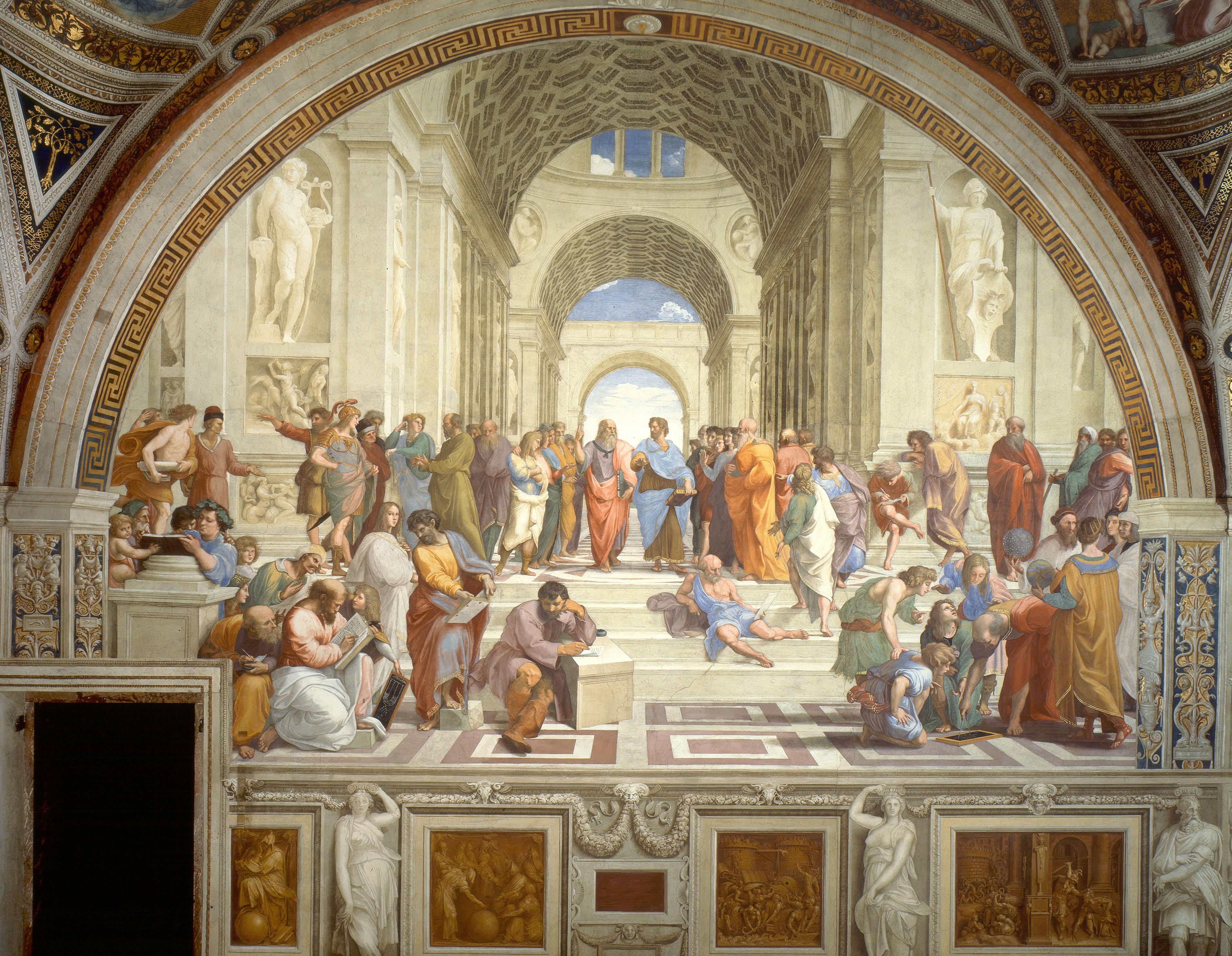 Figura 4. Rafael Sanzio, A escola de Atenas, (1509-1510). Museu do Vaticano, Roma
